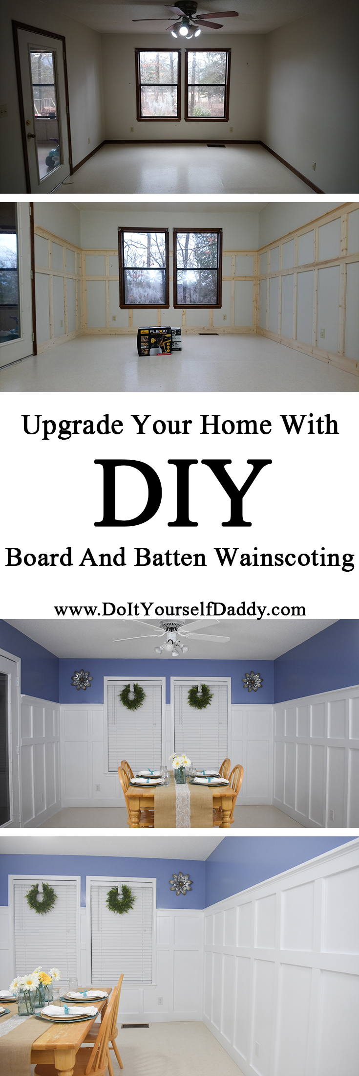Board and Batten Wainscoting Pinterest